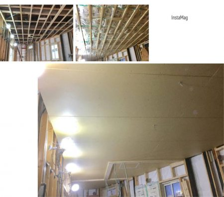 天井を貼る